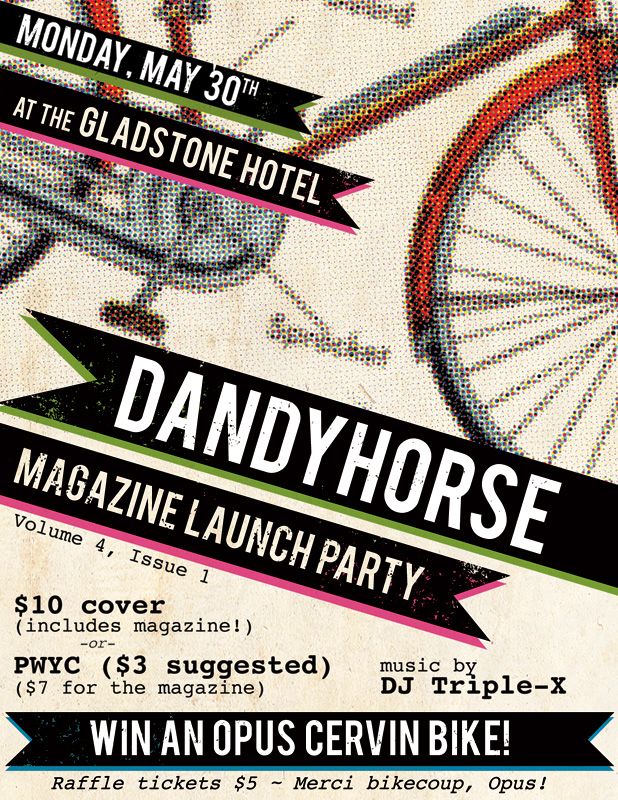 dandyhorse Spring 2011 launch party flyer
