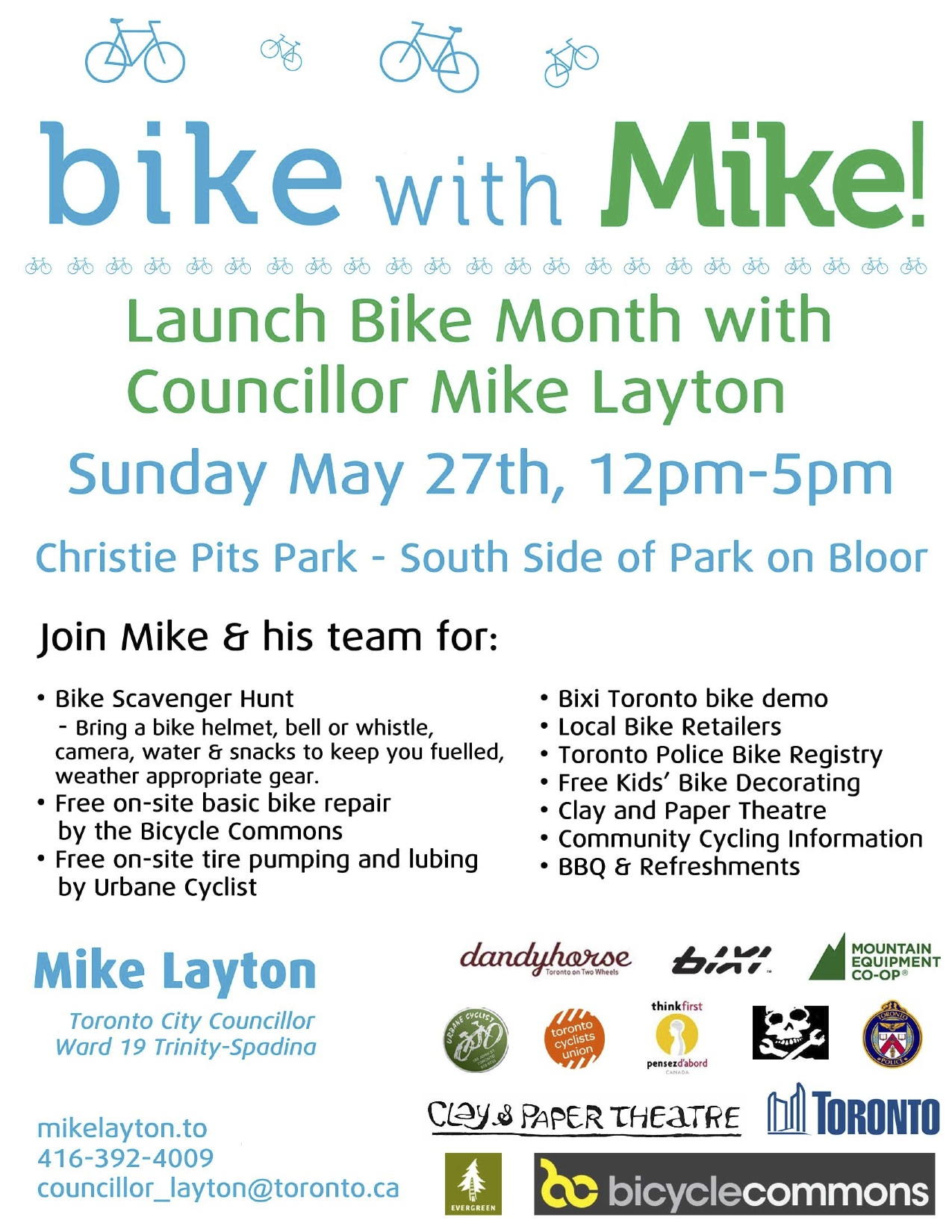 Bike With Mike Ward 19 Bike Month Scavenger Hunt With Councillor