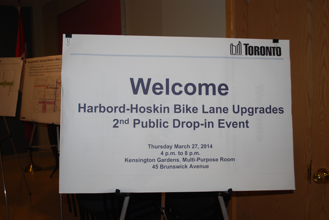 Harbord-Hoskin Bike Lane Upgrade