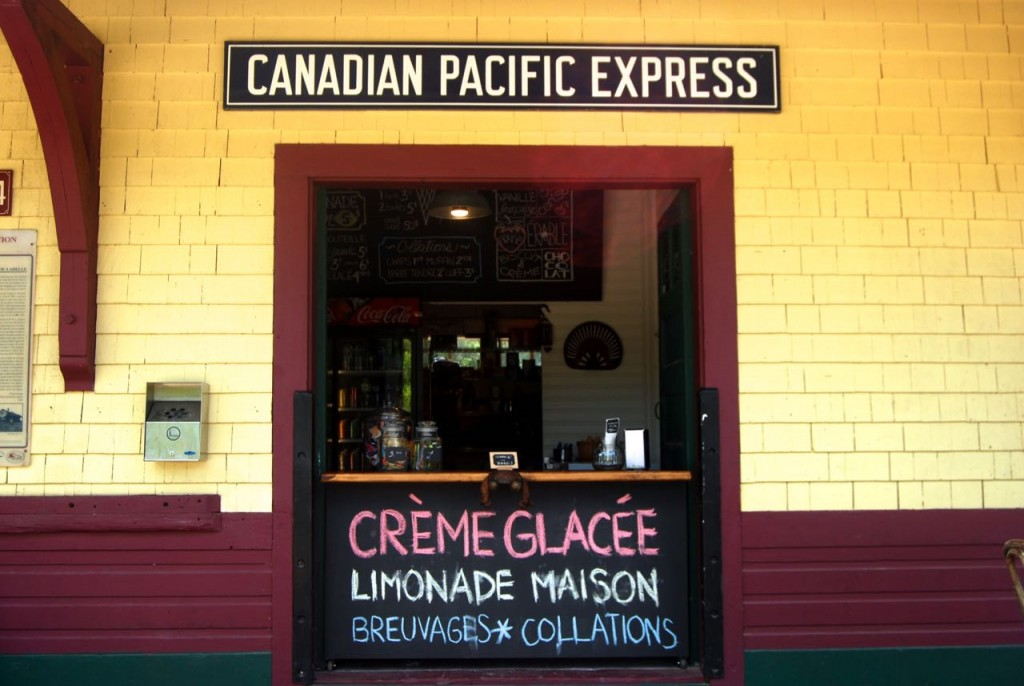 Creme glacee at a train station rest stop