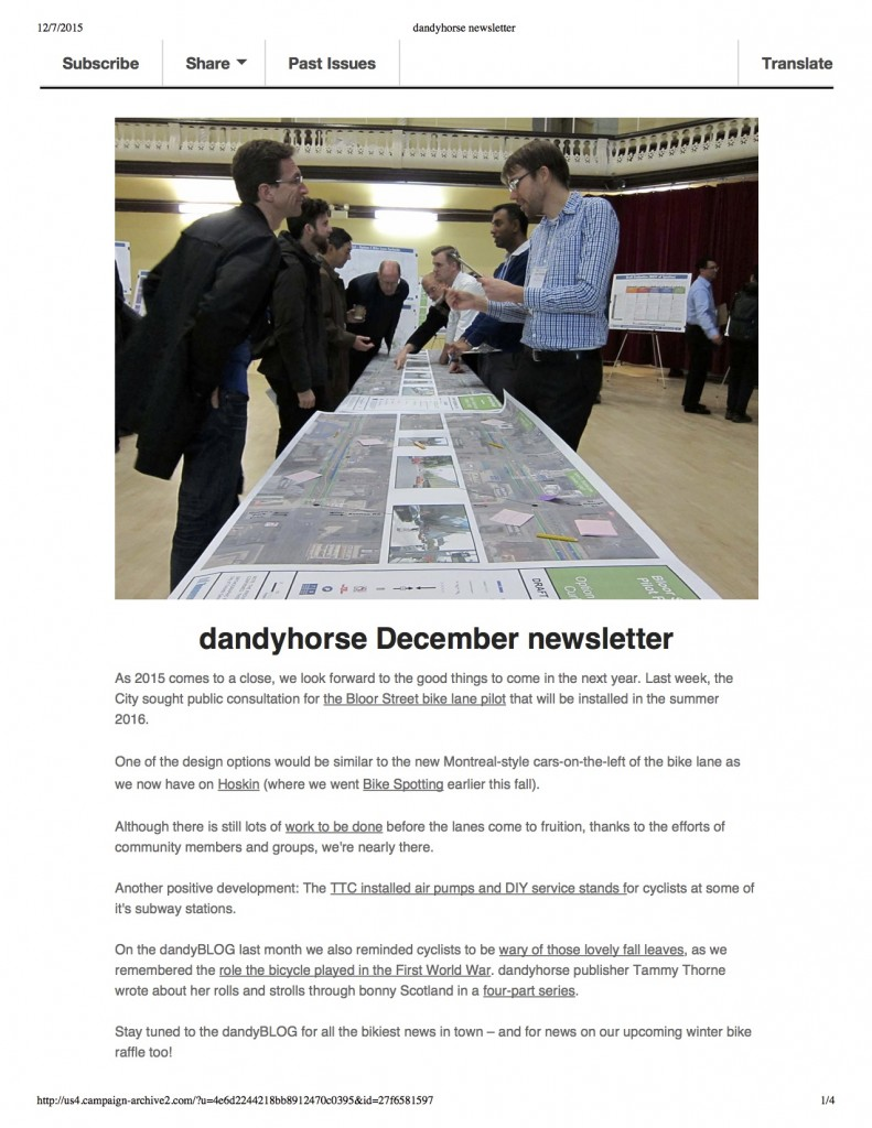 dandyhorse newsletter