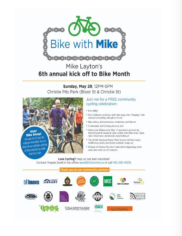 Bike with Mike 2016 Flyer