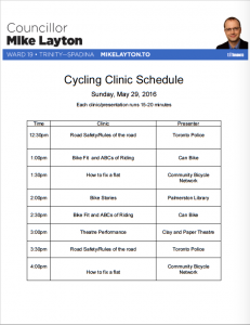 Bike with Mike Schedule