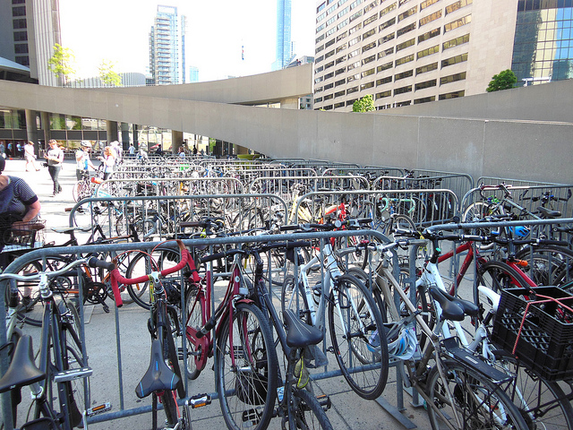 Bikes Locked at City Hall