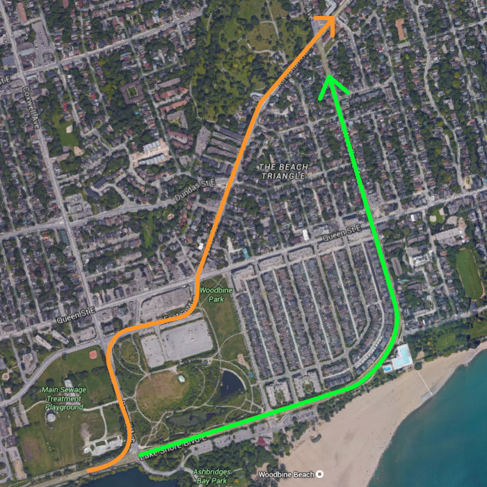 Woodbine at Lake Shore - Routes